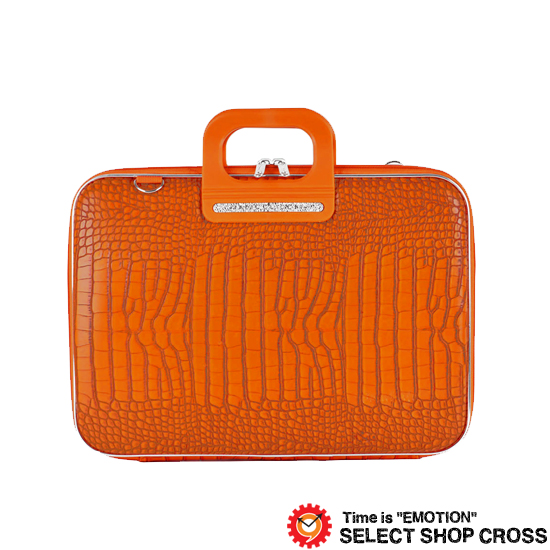 Bombata ボンバータ 正規品 ノートパソコン用ブリーフケース Siena シエナ 15インチ・B4ノート対応 クロコ型押しPUレザー FG1115-13 オレンジ