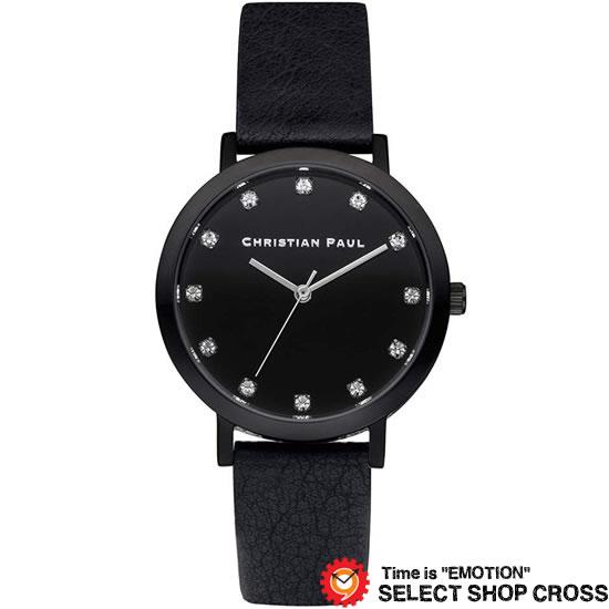 CHRISTIAN PAUL クリスチャン ポール 35mm Luxe Collection The Strand - Black/Black 35mm リュクスコレクション ザ ストランド - ブラック/ブラック クオーツ レディース 腕時計 ブランド SWL-01 【着後レビューを書いて1000円OFFクーポンGET】