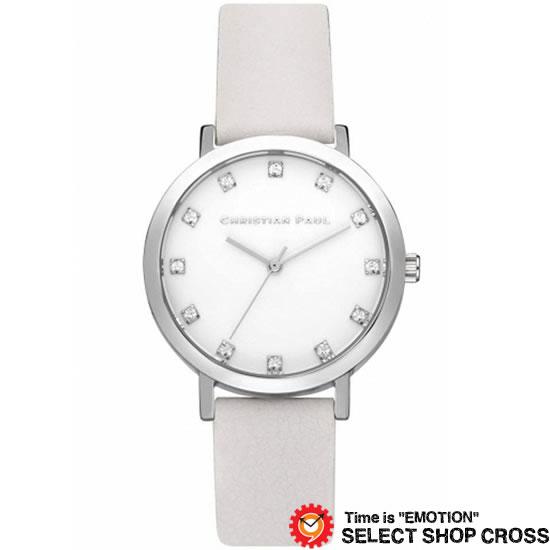 CHRISTIAN PAUL クリスチャン ポール 35mm Luxe Collection Hayman - Silver/White 35mm リュクスコレクション ヘイマン - シルバー/ホワイト クオーツ レディース 腕時計 ブランド SWL-03 【着後レビューを書いて1000円OFFクーポンGET】