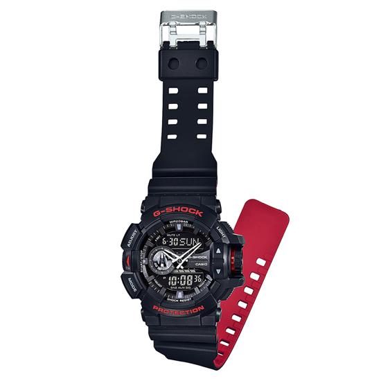【3年保証】 カシオ 腕時計 CASIO G-SHOCK Gショック GA-400HR-1A 防水 ジーショック Back & Red Series ブラック 黒  レッドシリーズ アナデジ メンズ 時計 GA-400HR-1ADR 海外モデル カシオ 腕時計 【あす楽】