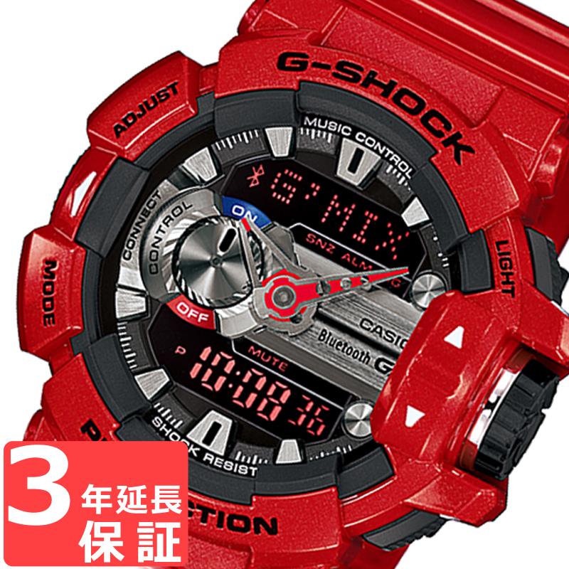 【名入れ・ラッピング対応可】 【3年保証】 カシオ 腕時計 CASIO G-SHOCK Gショック GBA-400-4A 限定モデル ジーミックス G'MIX スマフォ連携モデル 防水 ジーショック アナデジ メンズ 腕時計 Bluetooth レッド ブラック 黒 GBA-400-4ADR 海外モデル カシオ 腕時計