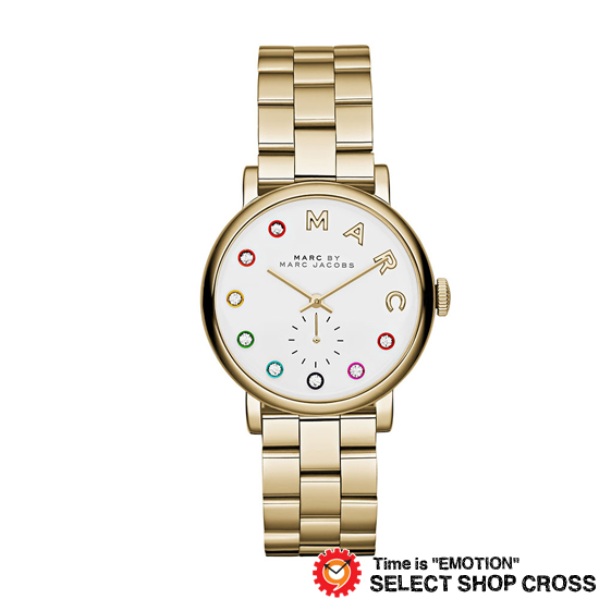 MARC BY MARCJACOBS マークバイマークジェイコブス 腕時計 ブランド レディース Baker Glitz ベイカー グリッツ ホワイト/ゴールド MBM3440