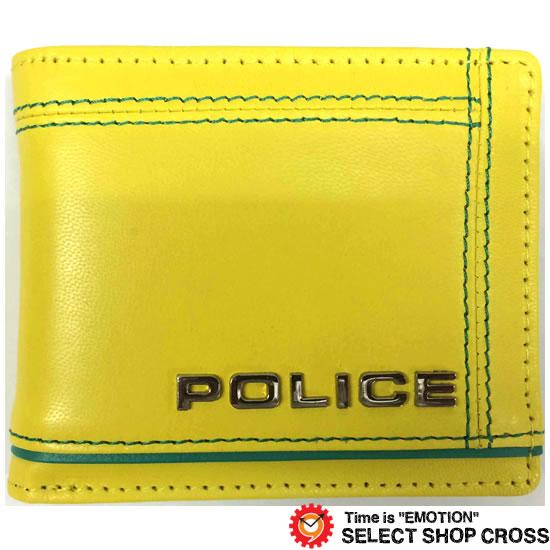 POLICE ポリス COLORS カラーズ 二つ折り財布 PA-58400-80 イエロー