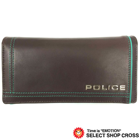 POLICE ポリス COLORS カラーズ 長財布 PA-58401-29 チョコ
