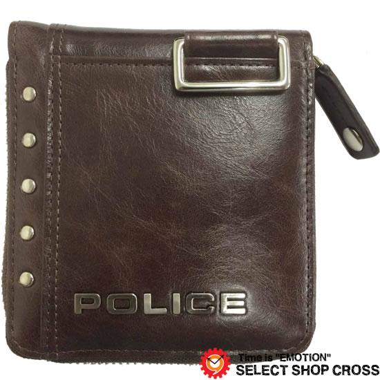 POLICE ポリス Avoid アヴォイド 二つ折り財布 PA-58601-29 チョコ