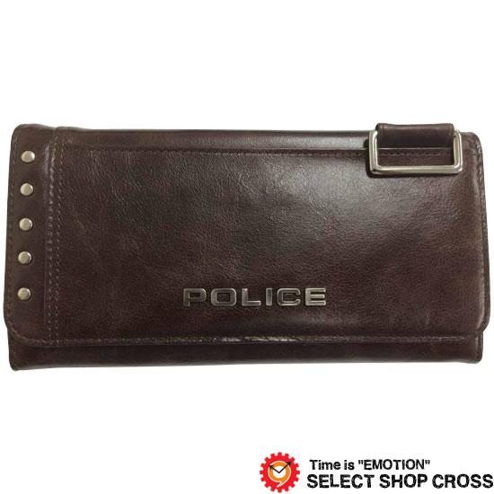 POLICE ポリス Avoid アヴォイド 長財布 PA-58603-29 チョコ