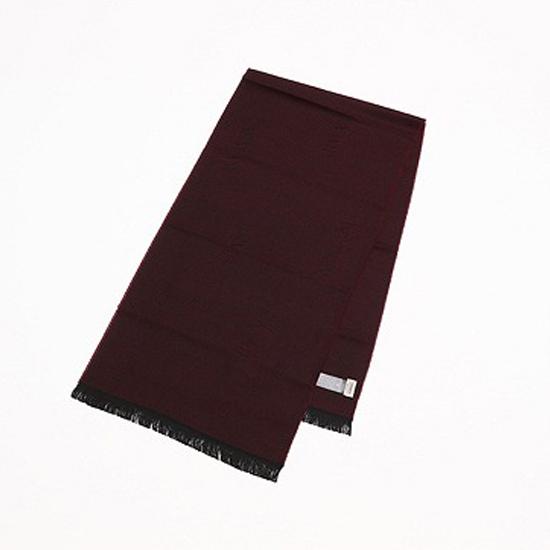 ARMANI アルマーニ マフラー スカーフ ウール100% ロゴデザイン グラナータ(レッド系) ac17-7a707-76 【あす楽】