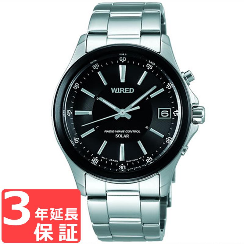 SEIKO セイコー WIRED ワイアード ソーラー電波修正 メンズ 腕時計 電波時計 AGAY012 正規品
