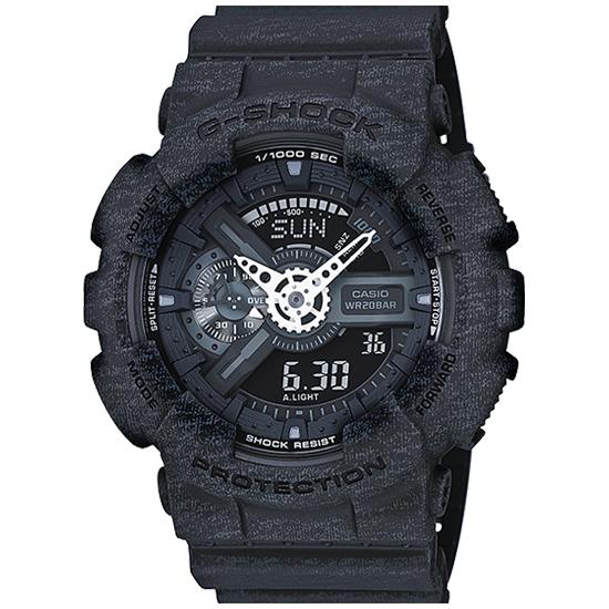【名入れ対応】 【100%本物保証】 【3年保証】 CASIO カシオ Gショック 防水 G-SHOCK ジーショック メンズ アナデジ 腕時計 GA-110HT-1A ヘザード・カラー・シリーズ 海外モデル ブラック 黒 ヘザード柄