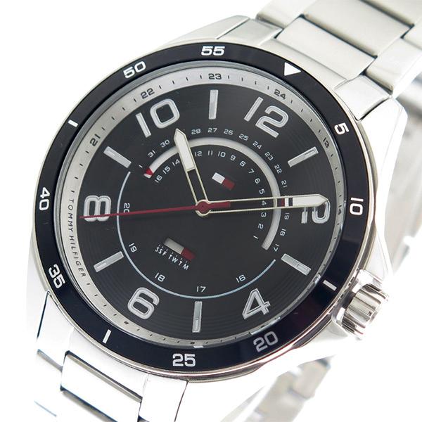 トミー ヒルフィガー TOMMY HILFIGER 腕時計 メンズ 1791394 ブラック シルバー