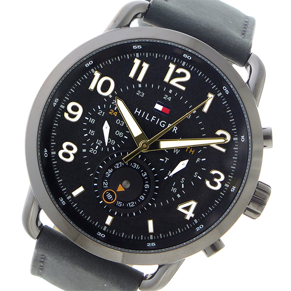 トミー ヒルフィガー TOMMY HILFIGER クロノ クオーツ メンズ 腕時計 1791426 ブラック