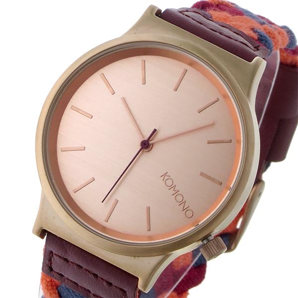コモノ KOMONO Wizard Woven-Forest Fruits クオーツ レディース 腕時計 ブランド KOM-W1851 ローズゴールド