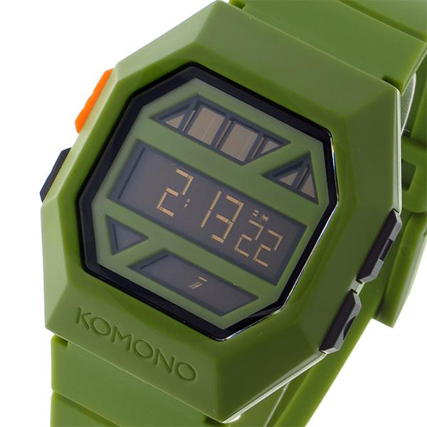 コモノ KOMONO Power Grid Army ソーラー デジタル メンズ 腕時計 KOM-W2053 グリーン