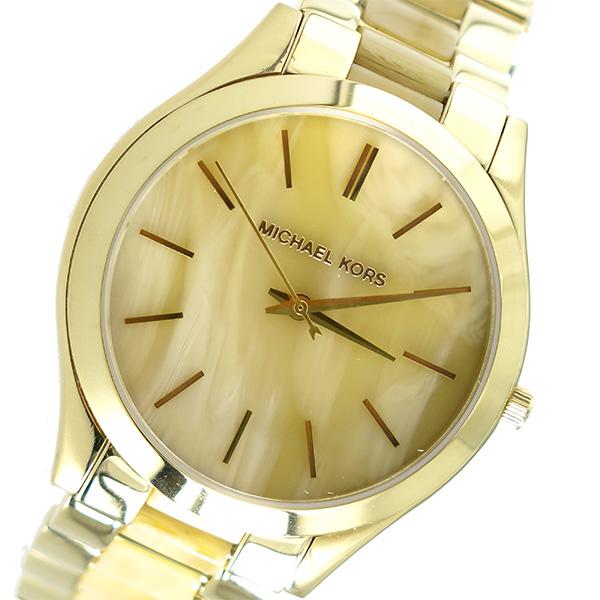 マイケルコース MICHAEL KORS スリム ランウェイ Slim Runway クオーツ ユニセックス 腕時計 MK4285 ホーンベージュ