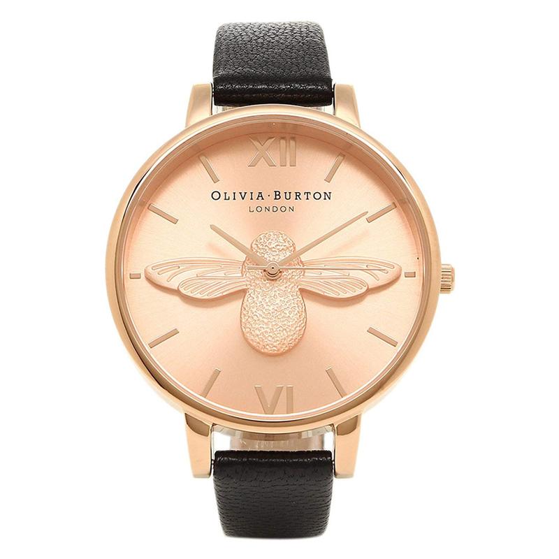 オリビアバートン 腕時計 Olivia Burton 時計 オリビアバートン 時計 Olivia Burton 腕時計 レディース OB14AM58 ANIMAL MOTIF MOULDED BEE ビー レディース 腕時計 ブラック/ローズゴールド オリビアバートン 腕時計