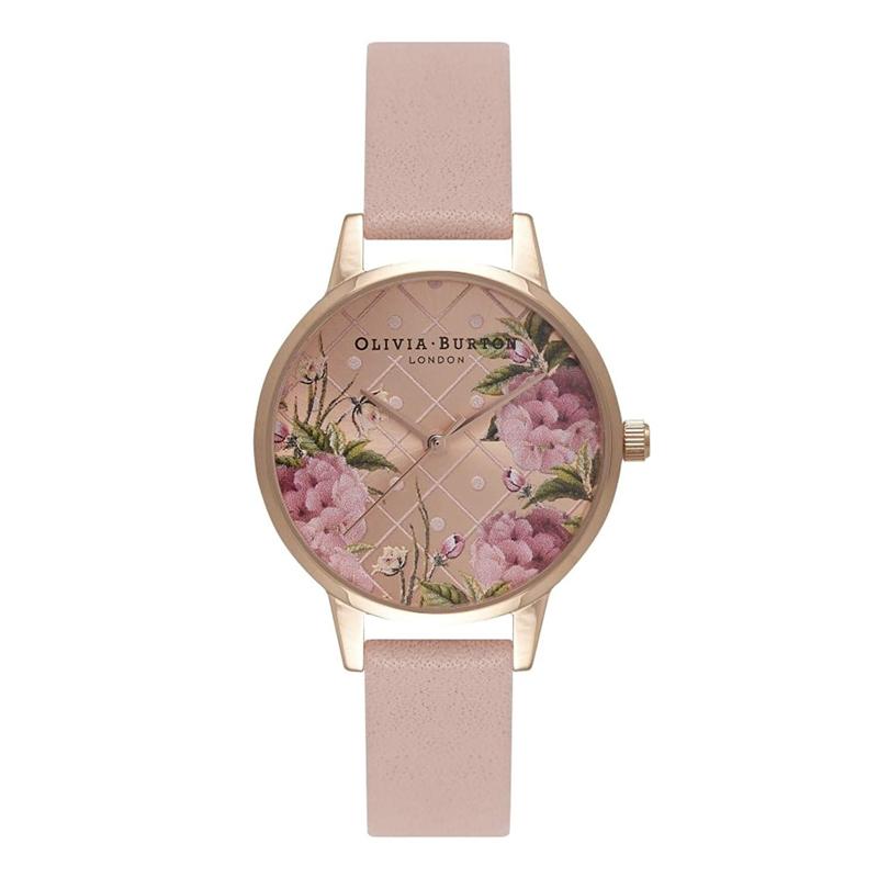 オリビアバートン 腕時計 Olivia Burton 時計 オリビアバートン 時計 Olivia Burton 腕時計 レディース DOT DESIGN FLORAL ドットデザインフローラル OB15EG43ローズゴールド×ダストピンク 腕時計 レディース オリビアバートン 腕時計