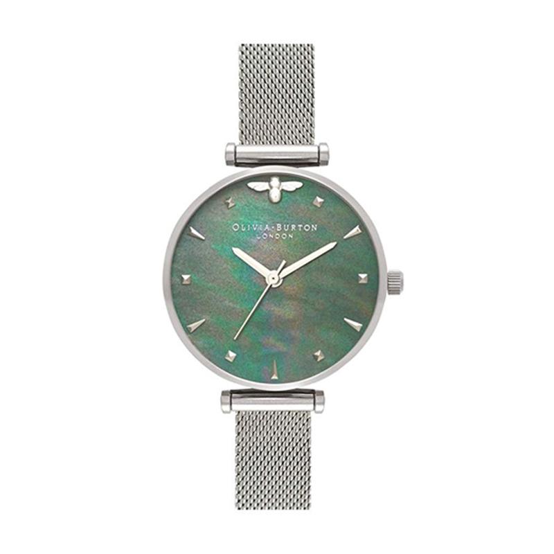 オリビアバートン 腕時計 Olivia Burton 時計 オリビアバートン 時計 Olivia Burton 腕時計 レディース Queen Bee クイーンビー OB16AM151 ブルーマザーオブパール×シルバー 腕時計 レディース オリビアバートン 腕時計