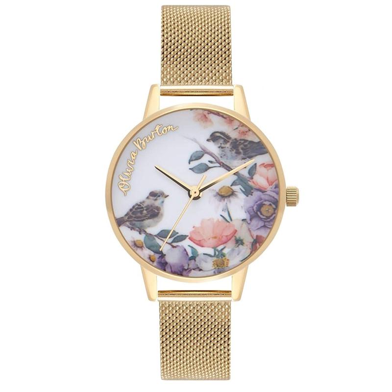 オリビアバートン 腕時計 Olivia Burton 時計 オリビアバートン 時計 Olivia Burton 腕時計 レディース ENGLISH GARDEN MIDI ゴールド メッシュ 腕時計 オリビアバートン 腕時計