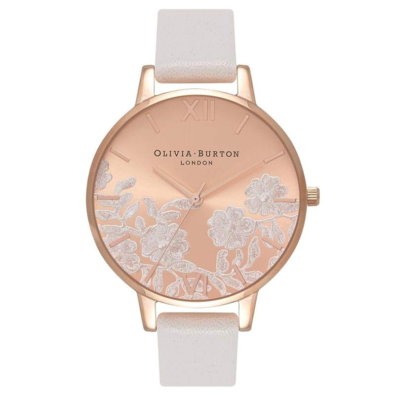 最安に挑戦中の人気ブランド新商品多数 プレゼントにおすすめ オリビアバートン 腕時計 Olivia Burton 時計 レディース フローラル 花柄 バーゲンセール ブラッシュ ローズゴールド ディティール ビッグダイヤル レース 注文後の変更キャンセル返品