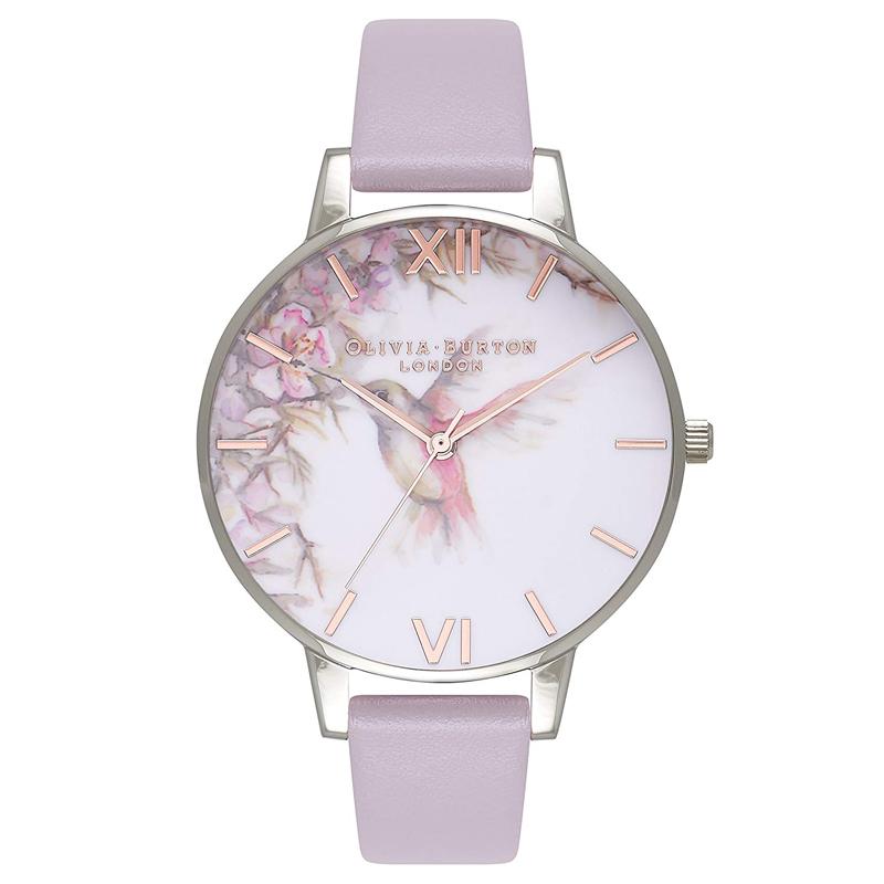 オリビアバートン 腕時計 Olivia Burton 時計 オリビアバートン 時計 Olivia Burton 腕時計 レディース Painterly Prints ライラック&シルバー 腕時計 ビッグダイヤル 花柄 アニマル 本革 レザー オリビアバートン 腕時計