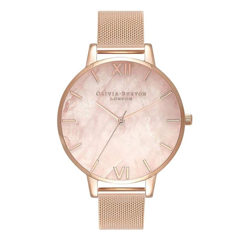 オリビアバートン 腕時計 Olivia Burton 時計 オリビアバートン 時計 Olivia Burton 腕時計 レディース Semi Precious ローズゴールド メッシュ 腕時計 オリビアバートン 腕時計