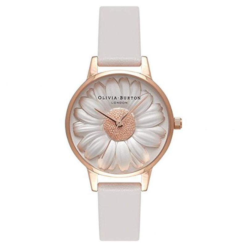 オリビアバートン 腕時計 Olivia Burton 時計 オリビアバートン 時計 Olivia Burton 腕時計 レディース VEGAN FRIENDLY 3D ビーガンフレンドリー3D フラワーショー OB16VE01 ホワイト×グレー 腕時計 レディース オリビアバートン 腕時計