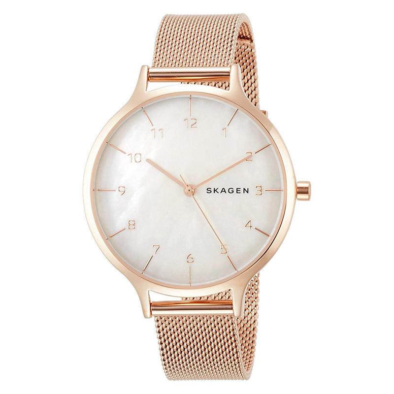 【3年保証】 スカーゲン メンズ レディース ユニセックス 腕時計 SKAGEN 時計 スカーゲン 時計 SKAGEN 腕時計 レディースANITA アニータ スチール・メッシュ 36mm MOP/ローズゴールド SKW2633 スカーゲン レディース