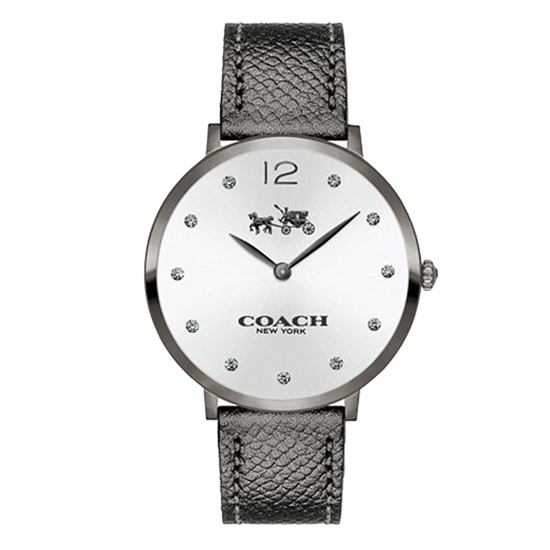コーチ COACH クオーツ 腕時計 ブランド イーストングレー/シルバー レザーウォッチレディース14502686 【あす楽】
