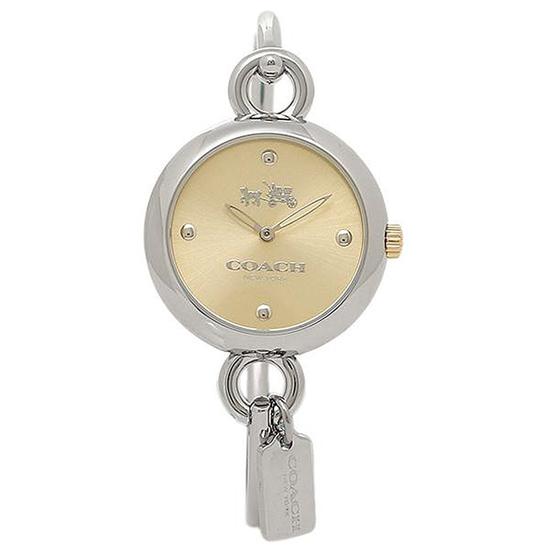 コーチ COACH クオーツ 腕時計 ブランド ハングタグシルバー/イエローゴールドバングル ブレスウォッチレディース14502689