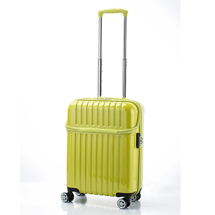 アクタス ACTUS トップオープン ジッパーハード 33L スーツケース キャリーケース 旅行カバン 74-20317 ライムカーボン 【代引き不可】 【直送商品】