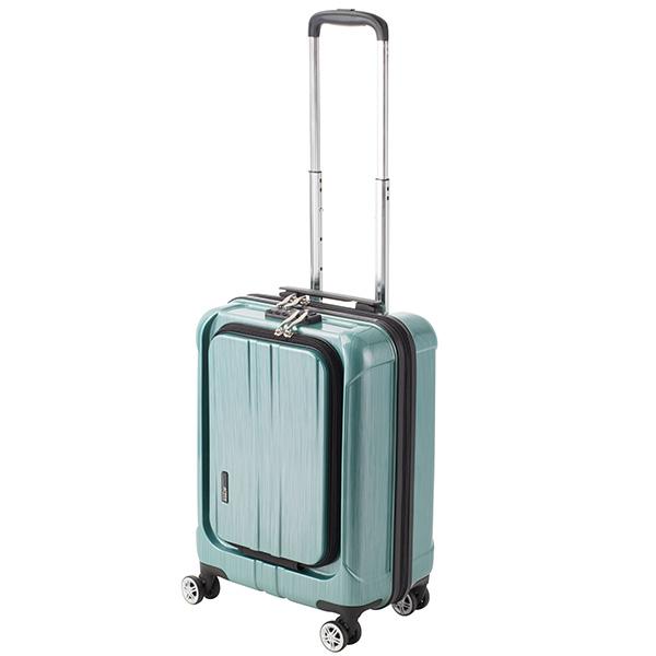 アクタス ACTUS フロントオープン ポライト 小型 Sサイズ 35L スーツケース キャリーケース 旅行カバン 74-20347 グリーン 【代引き不可】 【直送商品】