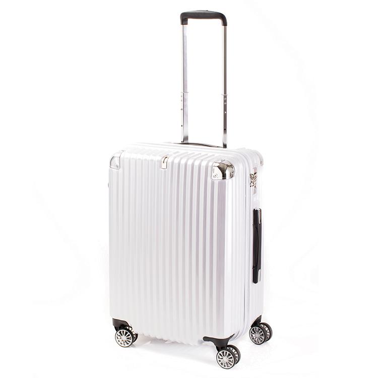 トラベリスト TRAVELIST ストリーク2 ジッパーハード 60L スーツケース キャリーケース 旅行カバン 76-20229 ホワイト 【代引き不可】 【直送商品】