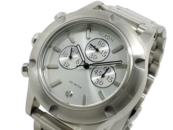 ニクソン NIXON CAMDEN CHRONO クロノグラフ 腕時計 A354130 シルバー
