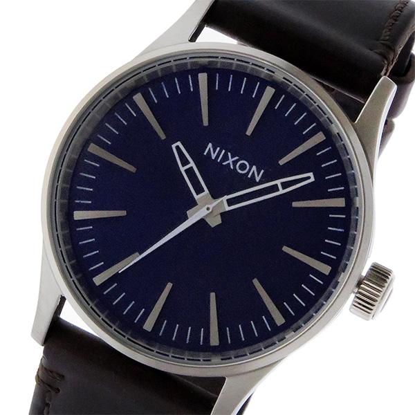 ニクソン NIXON セントリー レザー 38 SENTRY LEATHER クオーツ メンズ レディース ユニセックス 腕時計 ブランド A3771524 ブルー
