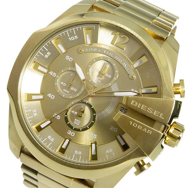 ディーゼル DIESEL メガチーフ クロノ クオーツ メンズ 腕時計 DZ4360 ゴールド