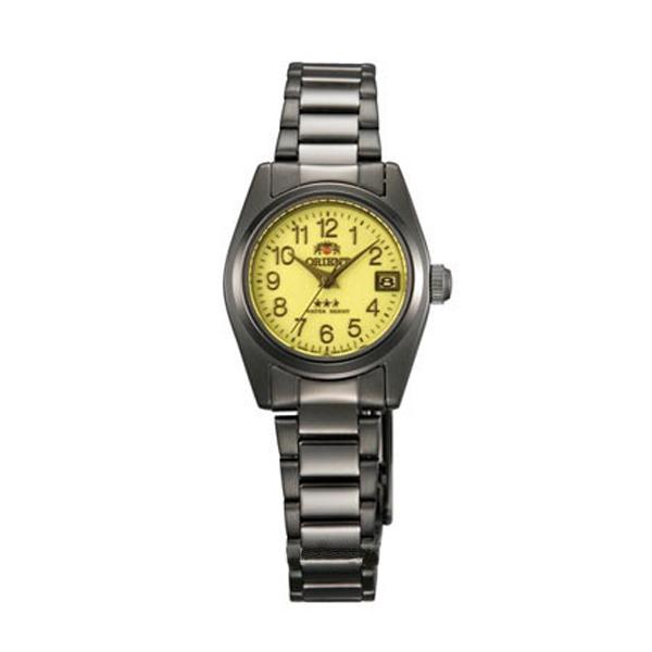 オリエント ORIENT スリースターズ 自動巻き レディース 腕時計 ブランド WV0391NR イエロー