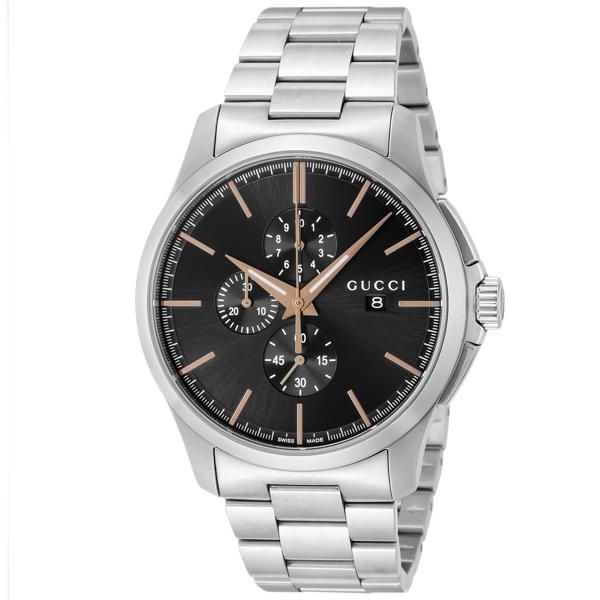 グッチ GUCCI Gタイムレス クロノ クオーツ メンズ 腕時計 YA126272 ブラック