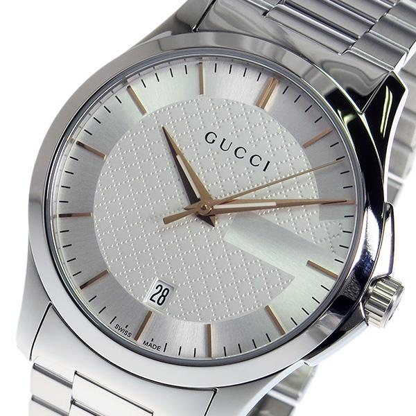 グッチ GUCCI Gタイムレス クオーツ メンズ 腕時計 YA126442 ホワイト