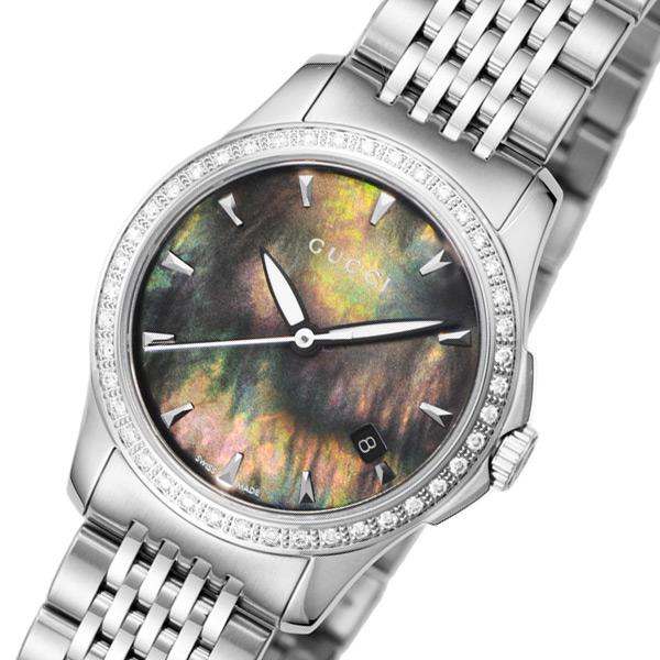 グッチ GUCCI Gタイムレス クオーツ レディース 腕時計 ブランド YA126507 ブラックパール