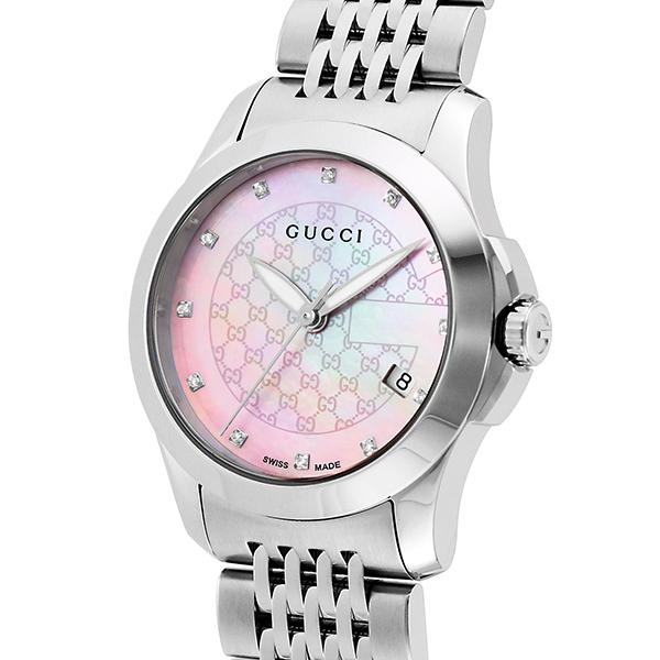 グッチ GUCCI Gタイムレス クオーツ レディース 腕時計 ブランド YA126534 ピンクパール