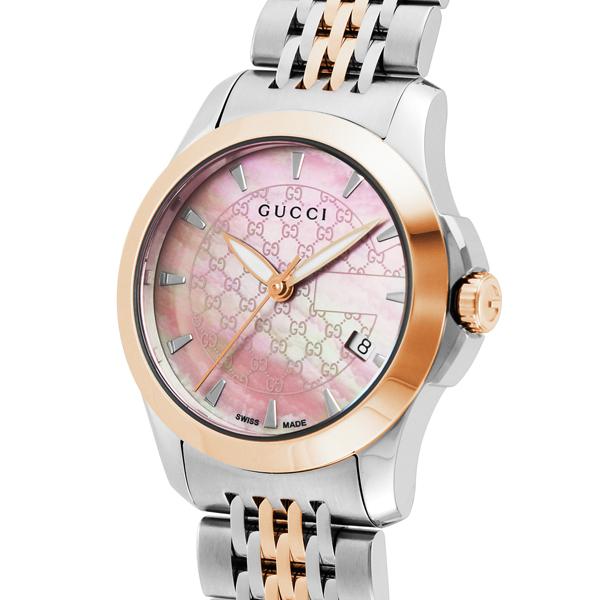 グッチ GUCCI Gタイムレス クオーツ レディース 腕時計 ブランド YA126536 ピンクシェル