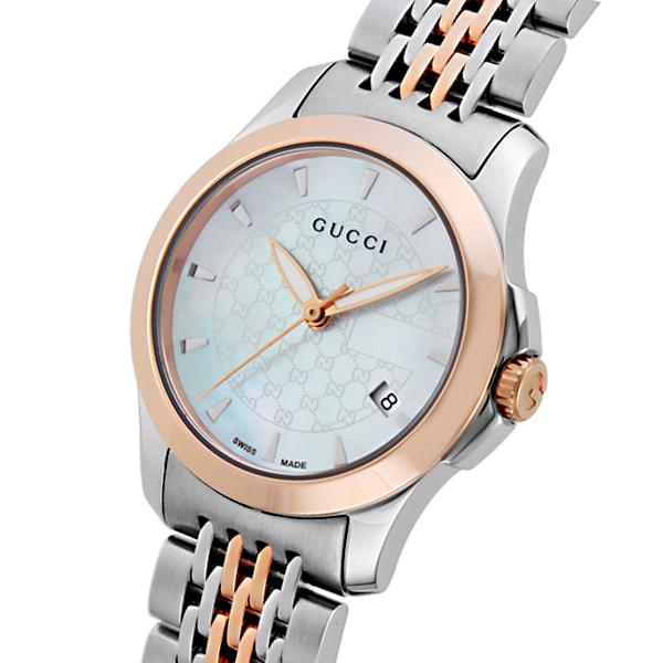 グッチ GUCCI Gタイムレス クオーツ レディース 腕時計 ブランド YA126537 ホワイトシェル:時計&雑貨セレクトショップクロス