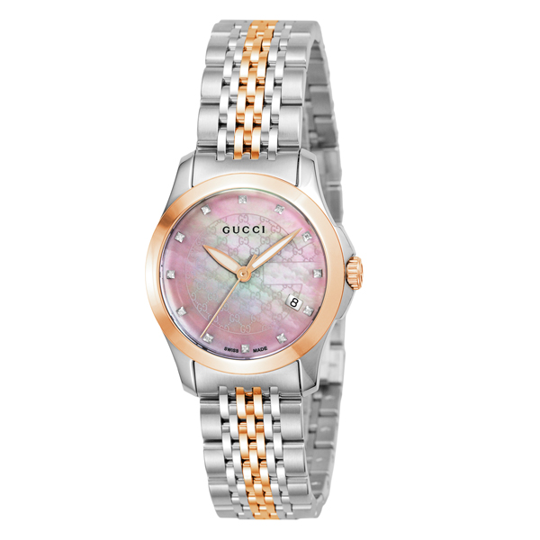 グッチ GUCCI Gタイムレス クオーツ レディース 腕時計 ブランド YA126538 ピンクシェル