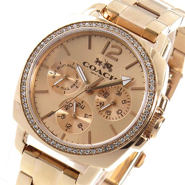 コーチ COACH クオーツ レディース 腕時計 ブランド 14502128 ピンクゴールド