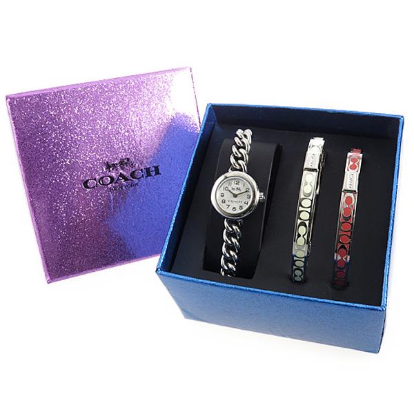 コーチ デランシー クオーツ レディース バングルセット 腕時計 ブランド 14502448 シルバー