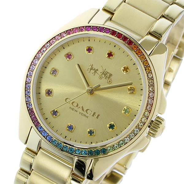 コーチ COACH トリステン TRISTEN ラインストーンベゼル クオーツ レディース 腕時計 ブランド 14502507 ゴールド