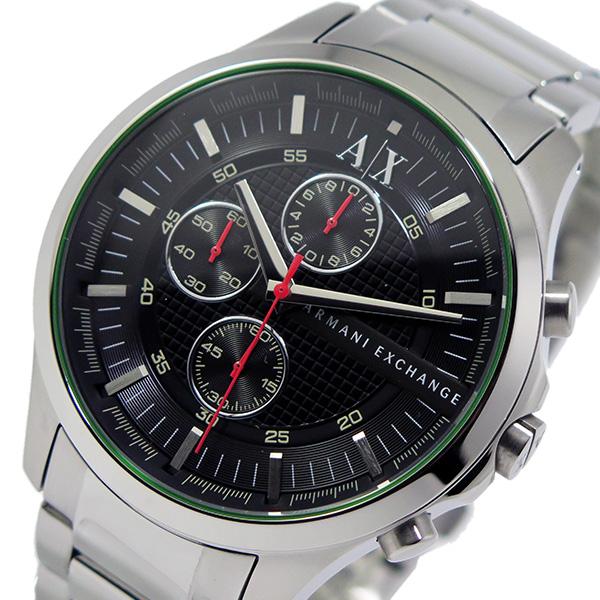アルマーニ エクスチェンジ 時計 ARMANI EXCHANGE 腕時計 クオーツ クロノ メンズ AX2163 ブラック アルマーニ エクスチェンジ 時計