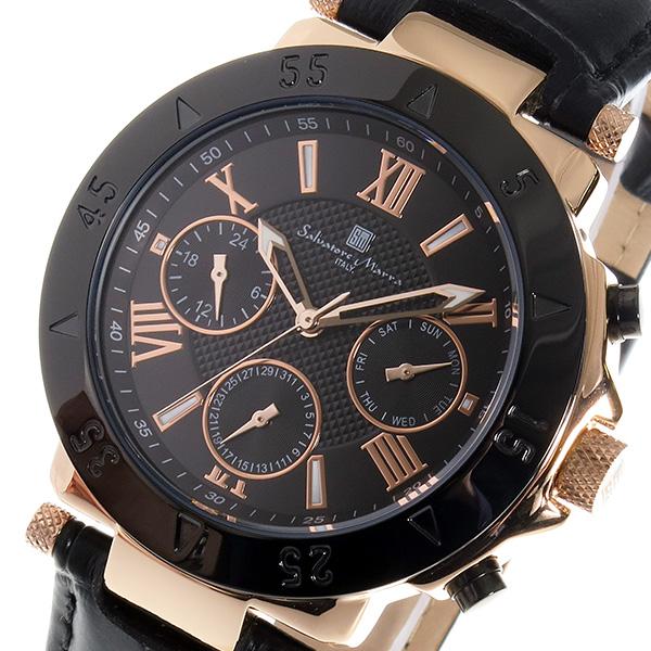 サルバトーレ マーラ SALVATORE MARRA クオーツ メンズ 腕時計 SM14118S-PGBK ブラック