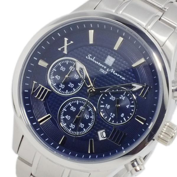 サルバトーレ マーラ SALVATORE MARRA クオーツ メンズ クロノ 腕時計 SM15102-SSBL ブルー