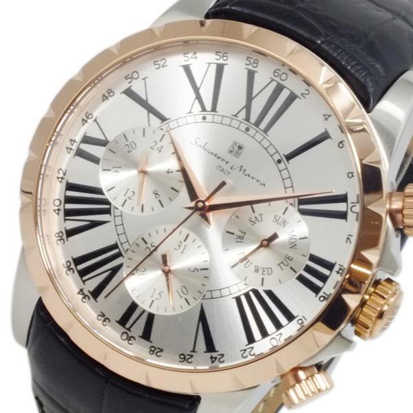 サルバトーレ マーラ SALVATORE MARRA クオーツ メンズ 腕時計 SM15103-PGSV シルバー